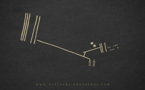 Dot on walk - line art 10