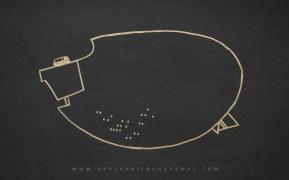 Dot on walk - line art 12