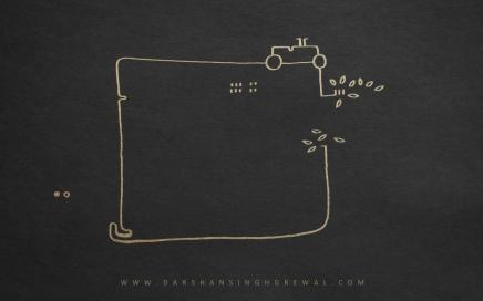 Dot on walk - line art 5